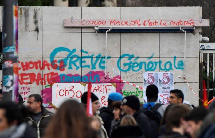 Париж в хаосе забастовок