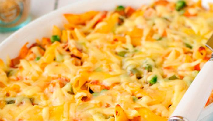 Запеканка с макаронами вегетарианская