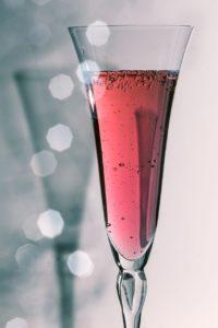 Коктейль «Валентинка» с шампанским