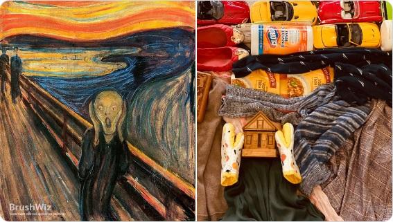 Фото: Картины из подручных средств предложил воссоздать Лос-анджелесский музей