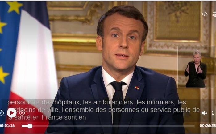 Фото: Коронавирус: выступление президента Франции 12 марта 2020