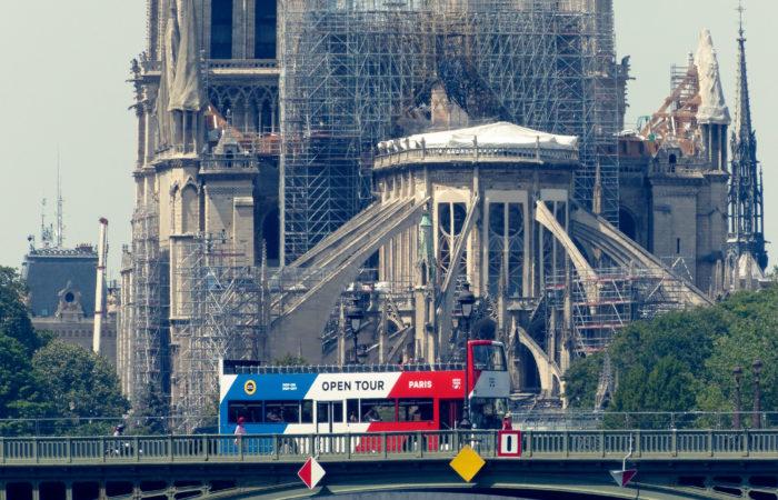 Фото: Новый этап восстановительных работ собора Парижской Богоматери
