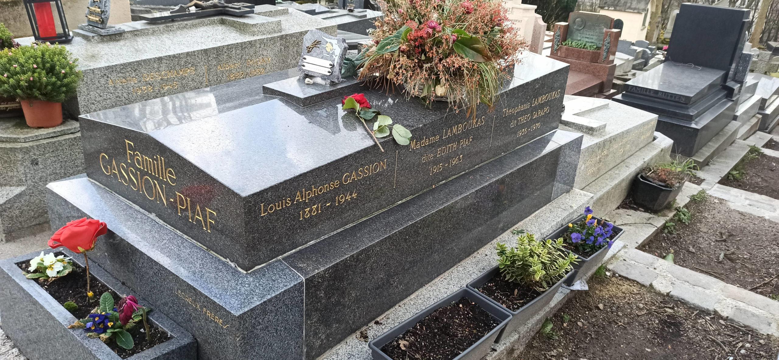 Эдит Пиаф - кладбище Пер Лашез в Париже