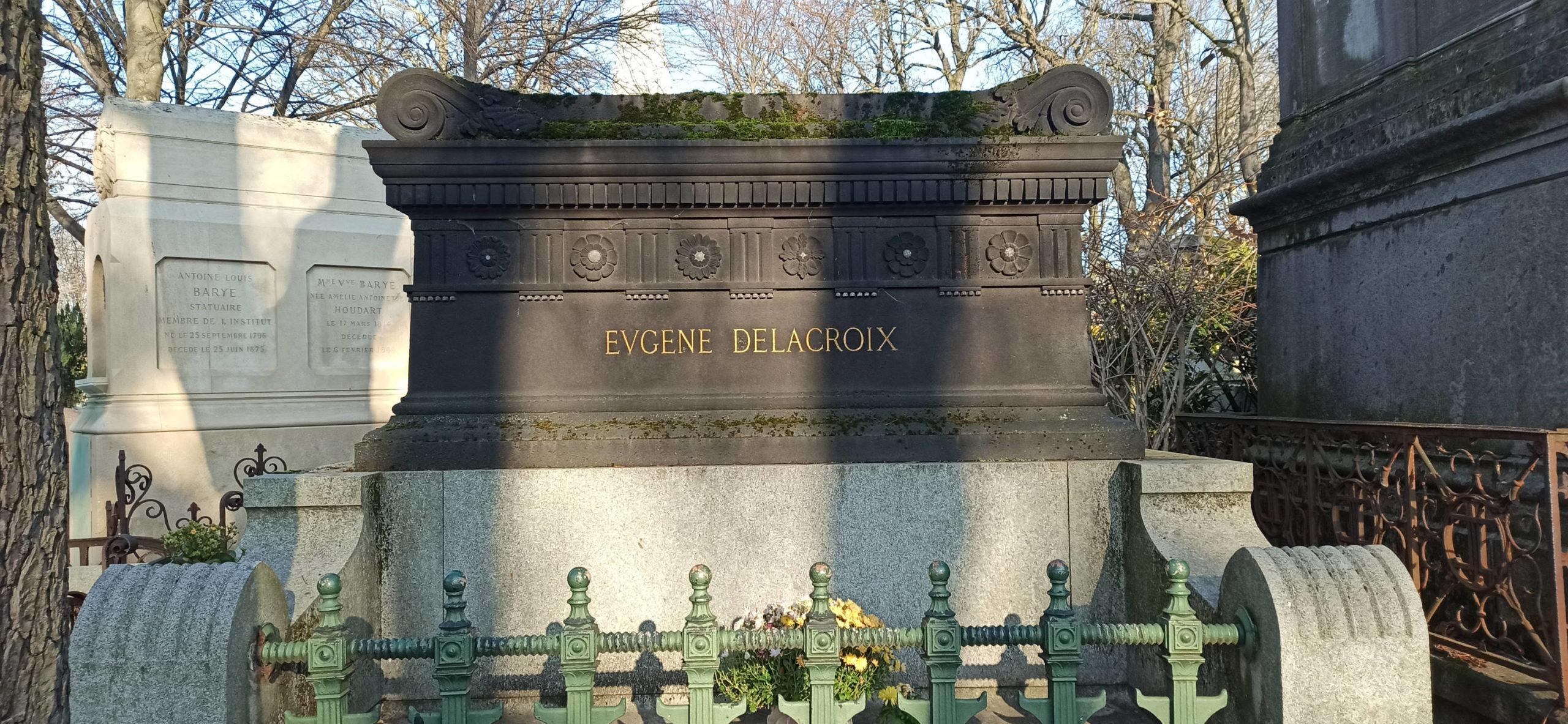 Ежен Делакруа - кладбище Пер Лашез в Париже