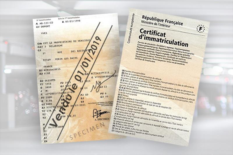Свидетельство о регистрации транспортного средства (фр. carte grisе)