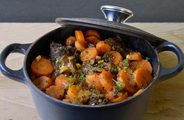 Фото: Тушеная говядина с морковью